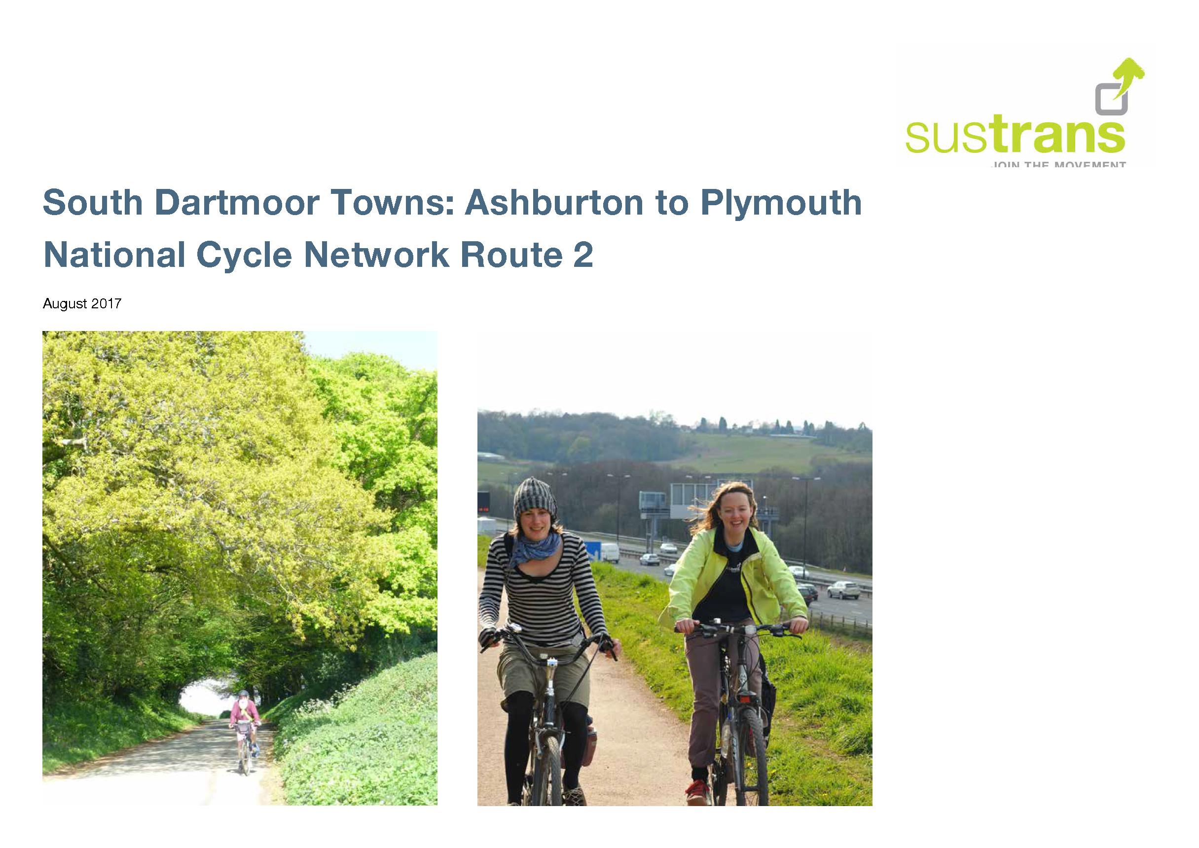 Sustrans_Ashburton to Plymouth_NCN2_Feasibility study_v1-0